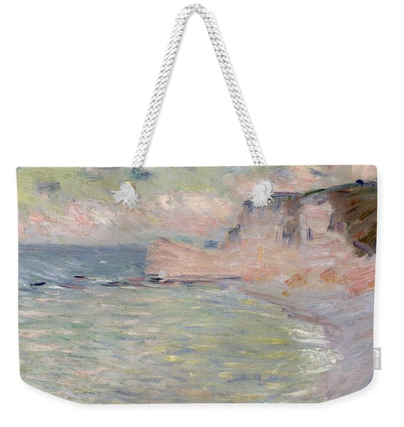 Cliffs And The Porte Damont, Morning Effect, 1885 Oil On Canvas Weekender Tote Bag