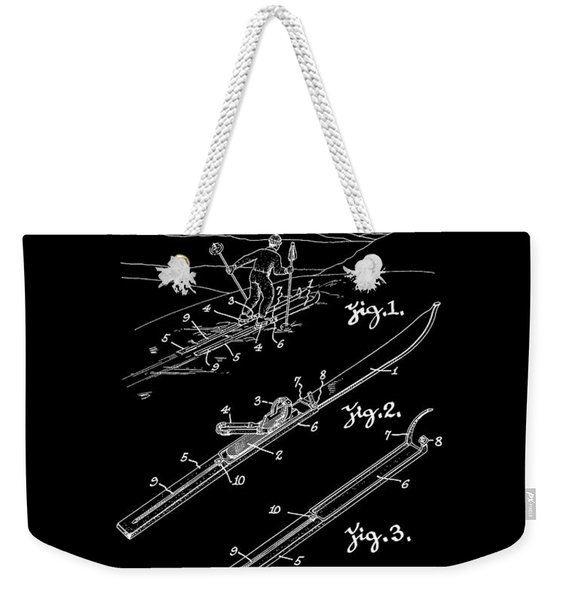 Climber For Skis 1939 Russell Patent Art Weekender Tote Bag