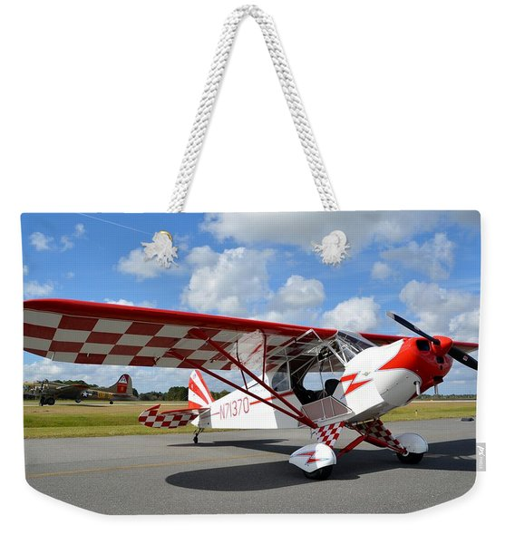 Clipped Cub And A B-17 Weekender Tote Bag
