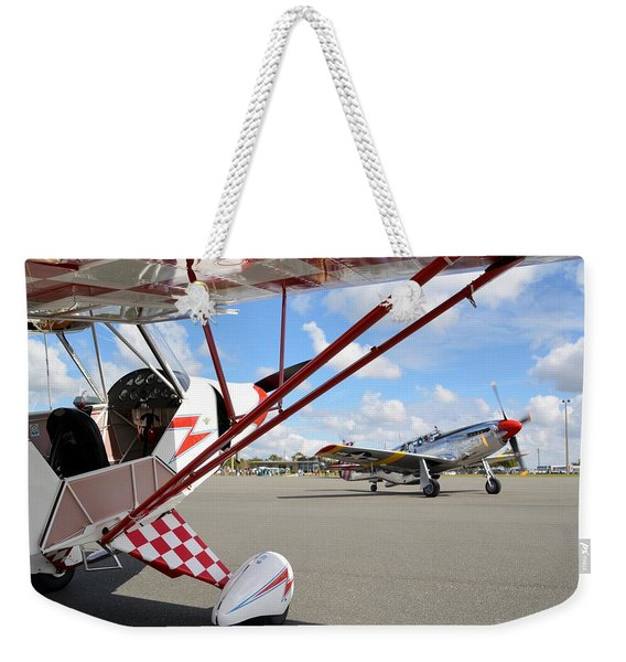 Clipped Cub And A P-51c Mustang Weekender Tote Bag