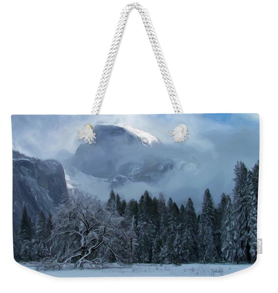 Cloaked In A Snow Storm Weekender Tote Bag