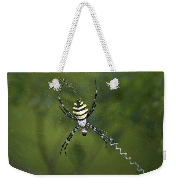 Close-up Of Argiope Coquereli Spider Weekender Tote Bag