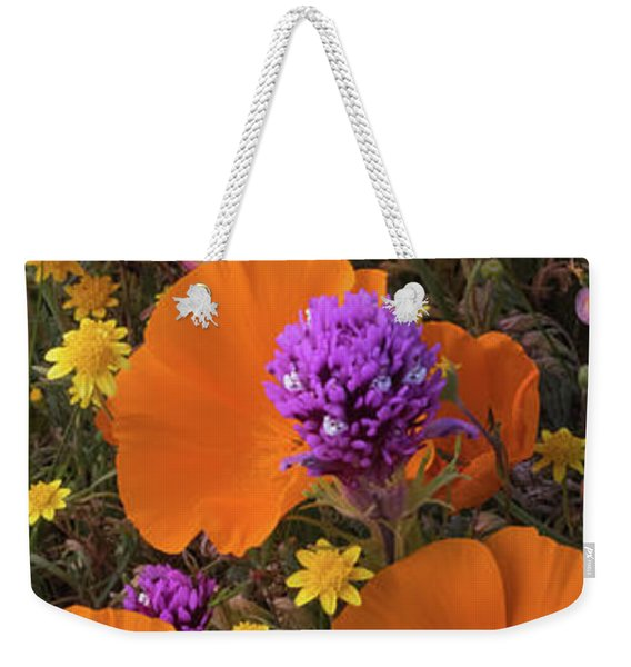 Close-up Of California Poppy Weekender Tote Bag