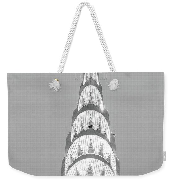 Close Up Of The Chrysler Building Weekender Tote Bag