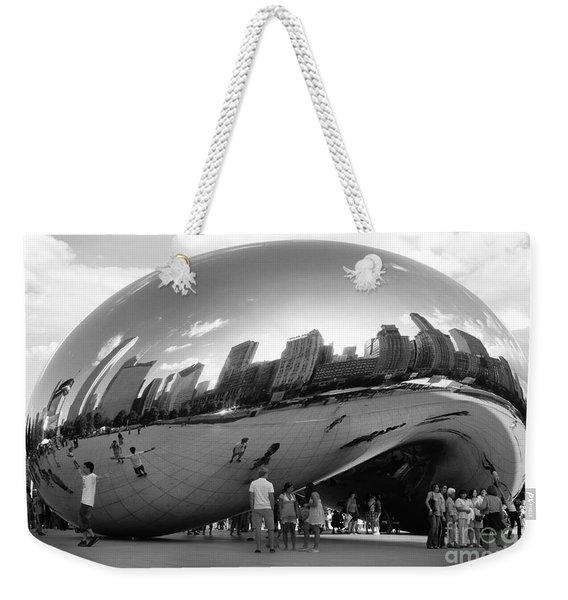 Cloud Gate Monument Weekender Tote Bag