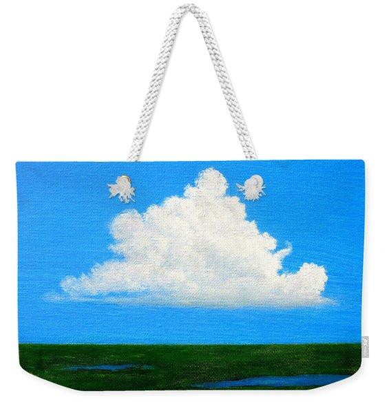 Cloud Over Wetlands Weekender Tote Bag