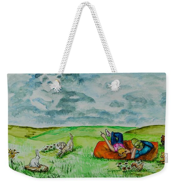 Cloud Shapes Weekender Tote Bag