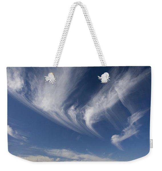 Clouds Above Chihuahuan Desert, Big Weekender Tote Bag