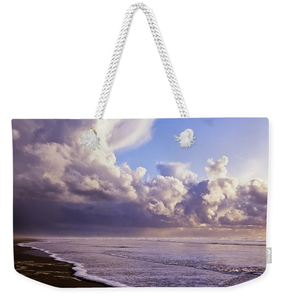 Clouds And Tide Moving Onto The Shore Weekender Tote Bag