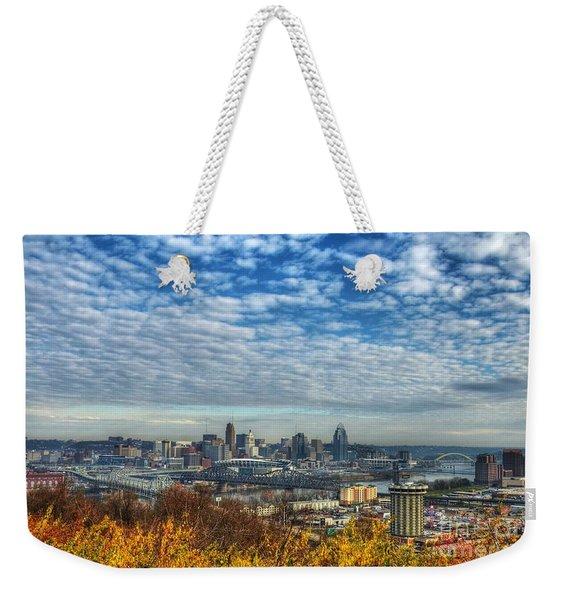Clouds Over Cincinnati Weekender Tote Bag