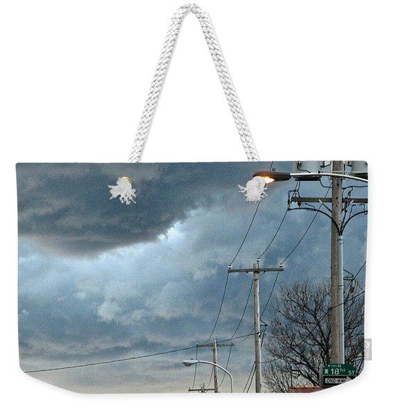 Clouds Over Philadelphia Weekender Tote Bag