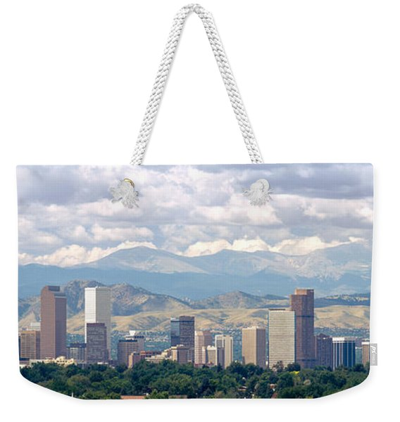 Clouds Over Skyline And Mountains Weekender Tote Bag