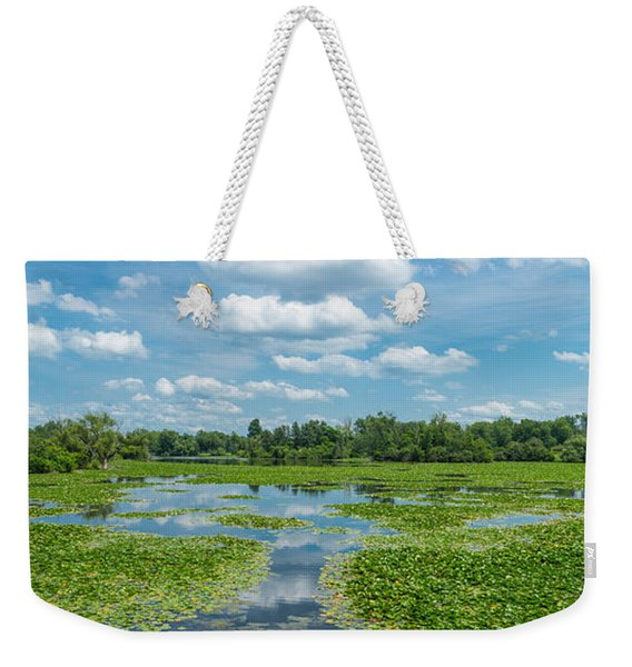 Clouds Over South Park Lake, South Weekender Tote Bag