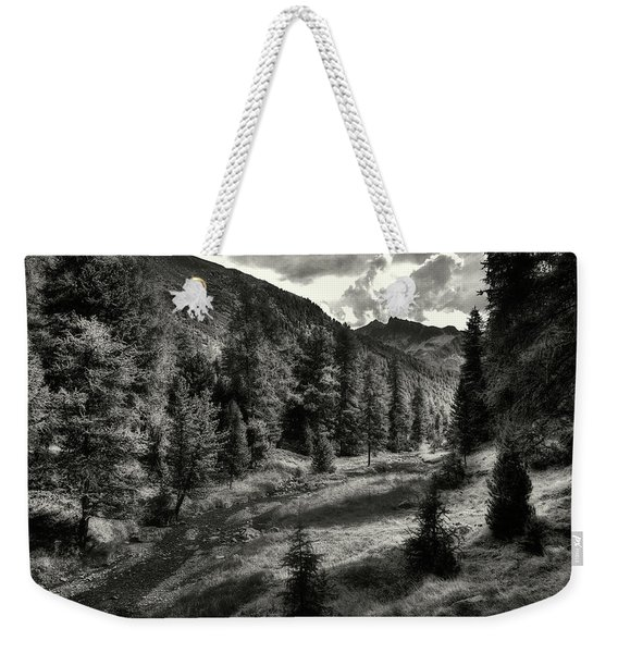 Clouds Over The Mountainscape Weekender Tote Bag