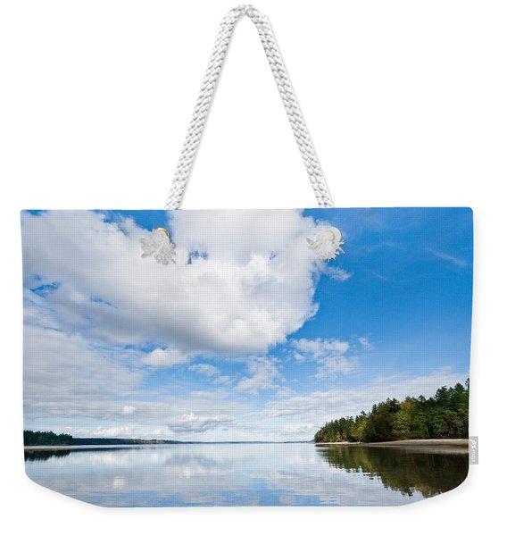 Clouds Reflected In Puget Sound Weekender Tote Bag
