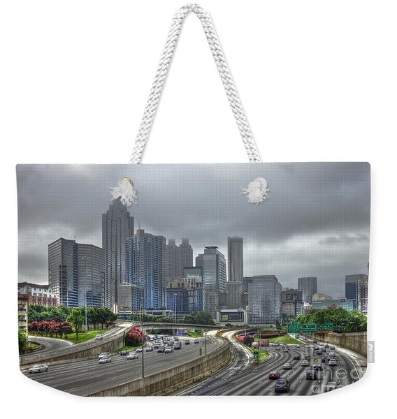 Cloudy Atlanta Capital Of The South Weekender Tote Bag