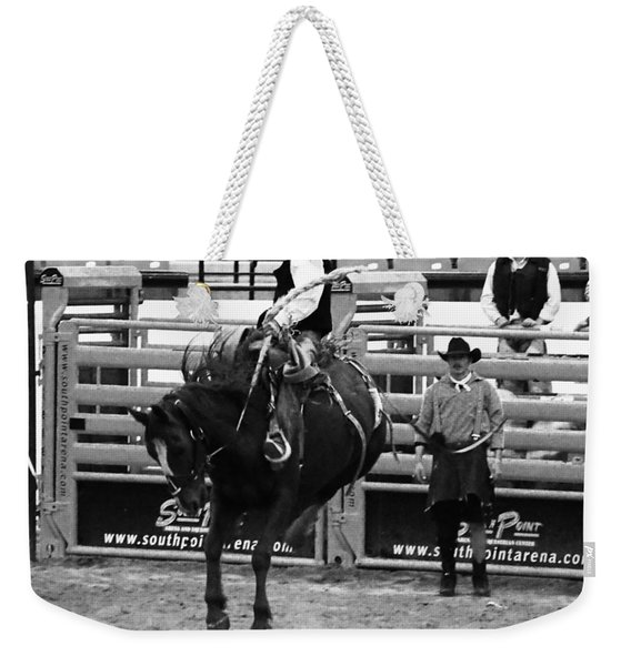 Clown Watches Bronc Bw Weekender Tote Bag