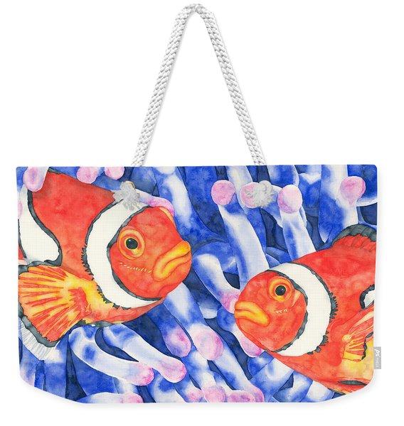 Clownfish Couple Weekender Tote Bag
