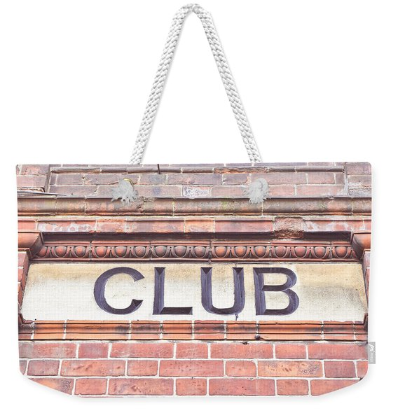 Club Sign Weekender Tote Bag