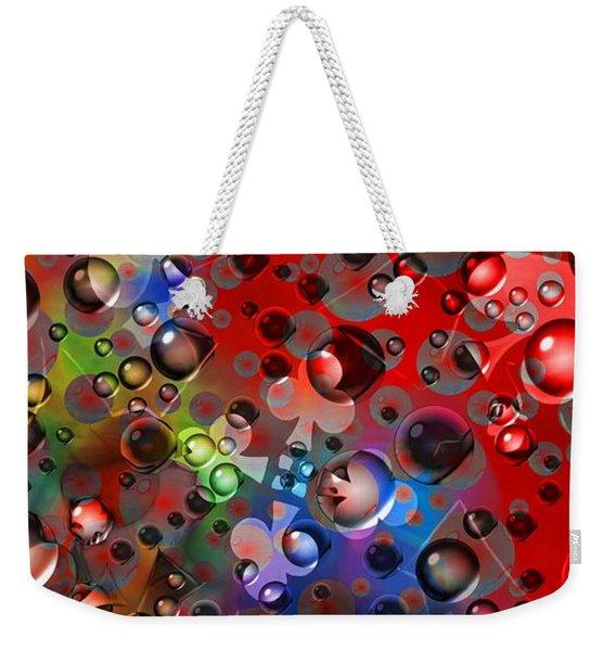 Clubs And Spades Pop Art Poster Weekender Tote Bag