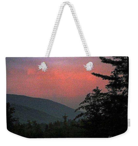 Clucks West Ossipee Mountain Sundown Weekender Tote Bag