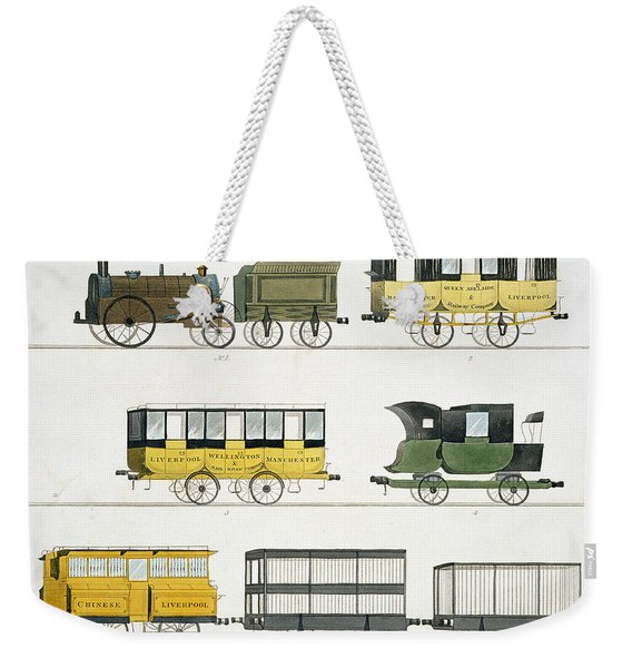 Coaches Employed On The Railway, Plate Weekender Tote Bag