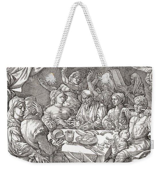 Coarse Behaviour At The Dining Table During The Renaissance Period.  After A Spanish Copper Weekender Tote Bag