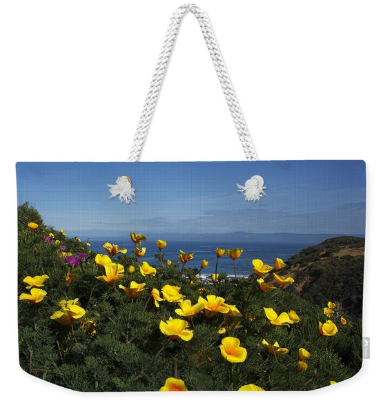 Coastal California Poppies Weekender Tote Bag