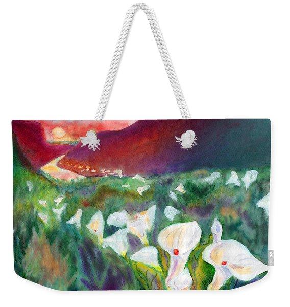 Coastal Callas Weekender Tote Bag