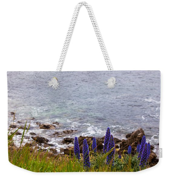 Coastal Cliff Flowers Weekender Tote Bag