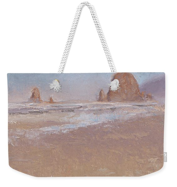 Coastal Escape  Cannon Beach Oregon And Haystack Rock  Weekender Tote Bag
