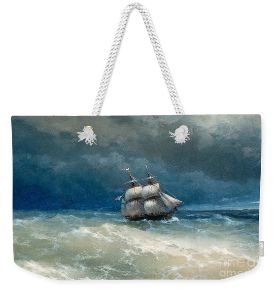Coastal Scene With Stormy Waters Weekender Tote Bag