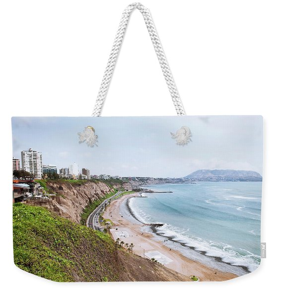 Coastline Of Lima, Peru Weekender Tote Bag