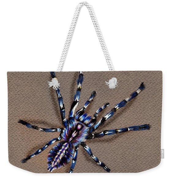 Cobalt Blue Tarantula Weekender Tote Bag