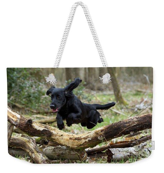 Cocker Spaniel Jumping Weekender Tote Bag