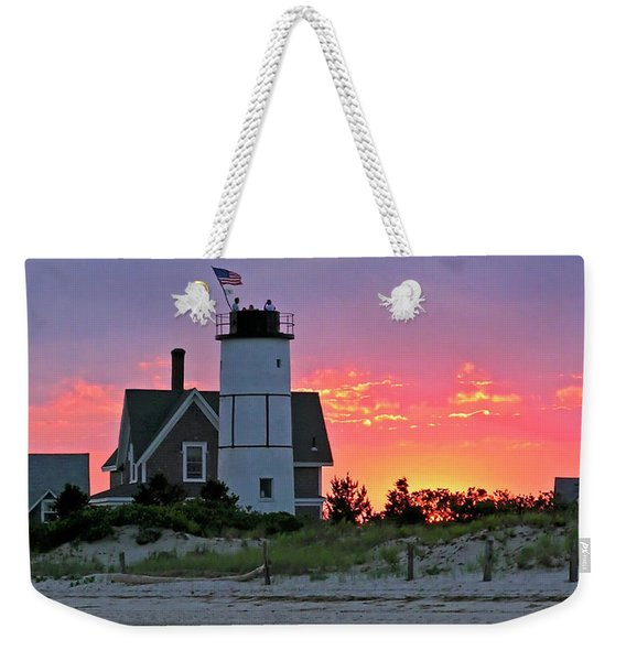 Cocktail Hour At Sandy Neck Lighthouse Weekender Tote Bag