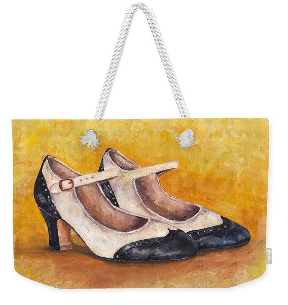 Pair Of 1920s Flappers Heels Mary Janes Weekender Tote Bag