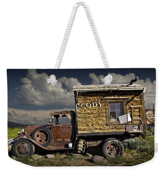 Cody Wyoming Truck Signpost Weekender Tote Bag