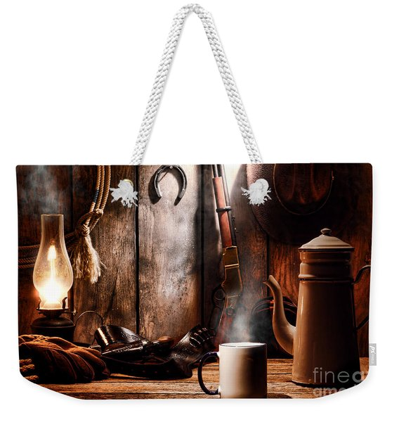 Coffee At The Cabin Weekender Tote Bag