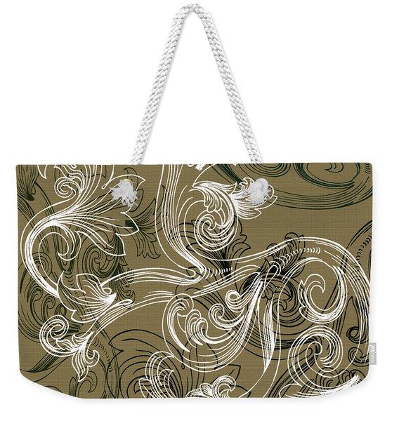 Coffee Flowers 2 Olive Weekender Tote Bag