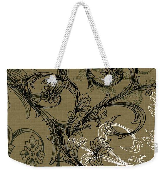 Coffee Flowers 3 Olive Weekender Tote Bag