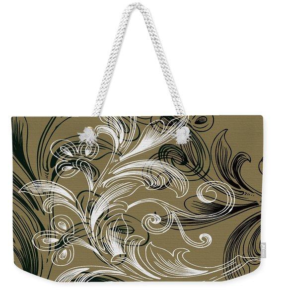 Coffee Flowers 4 Olive Weekender Tote Bag