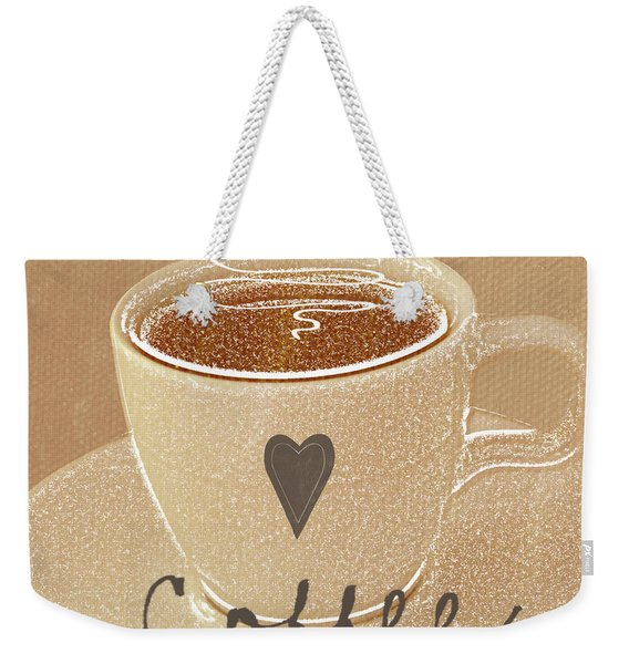 Coffee Love In Mocha Weekender Tote Bag