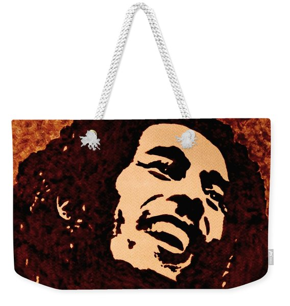 Coffee Painting Bob Marley Weekender Tote Bag