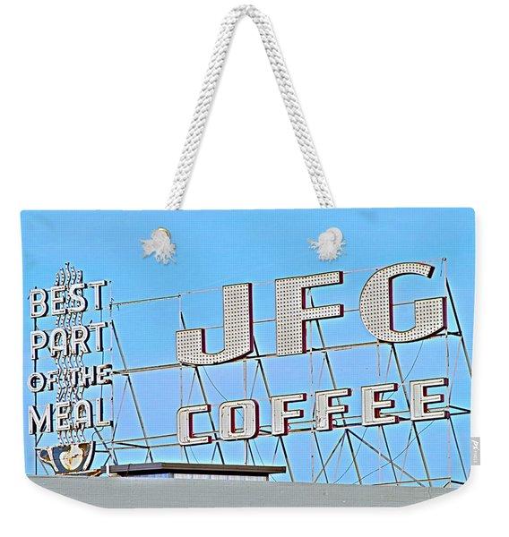 Coffee Sign Weekender Tote Bag