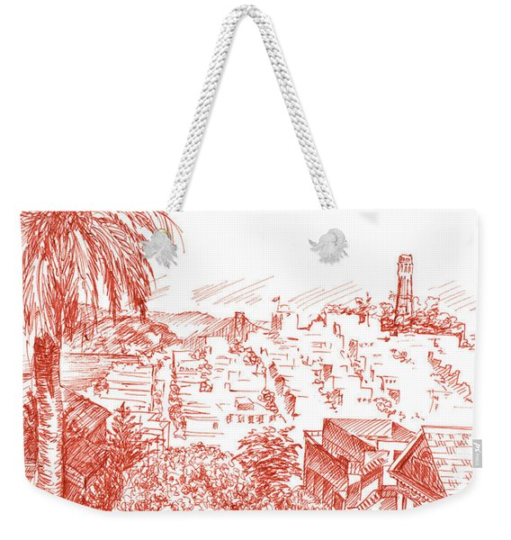Coit Tower View From Russian Hill San Francisco Weekender Tote Bag
