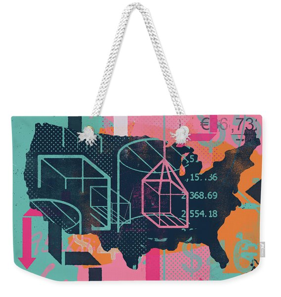 Collage Of United States And Global Weekender Tote Bag