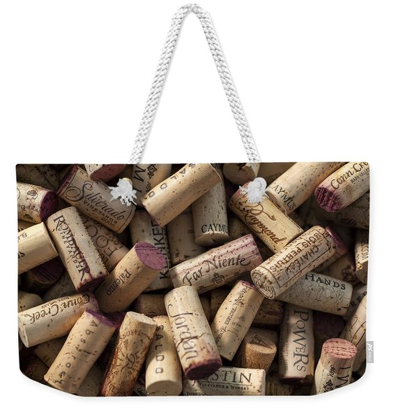 Collection Of Fine Wine Corks Weekender Tote Bag
