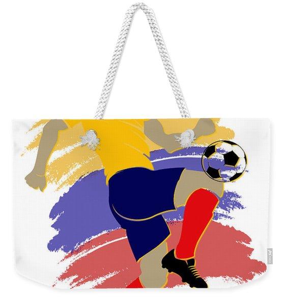 Colombia Soccer Player Weekender Tote Bag