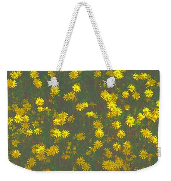 Color Flower Wall Weekender Tote Bag